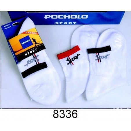posets pack 3 pares calcetines hombre deportivos invisible 80% algodon planta transpirable. UI-1