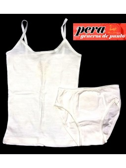 pera camiseta niña de tiras 92% algodon sin costuras 4932