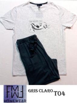 pijama mujer verano estampado cuello tapeta 213-13
